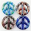 Moulding Lampwork Pendant, peace shape, miracle design, more colors for choice, 50x50x8mm, Hole:Approx 4MM, Sold by PC