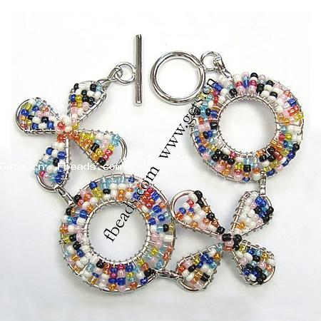 "Buy.com - ""7"""" Seed Bead Flower Bracelet (Case of 48)"""