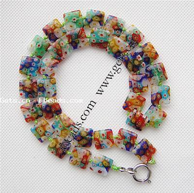Amazon.com: Venetian Murano Glass Beaded Millefiori Flower Stretch