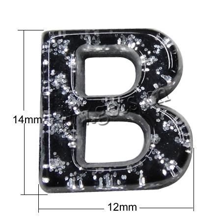 Fancy Printing Resin Cabochons Letter Perfect For Nice Diy Jewelry
