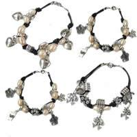 Leather Cord Pearl Bracelets