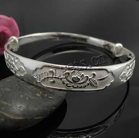 Sterling Silver Adjustable Bangle Bracelet, for adult, Sold by PC