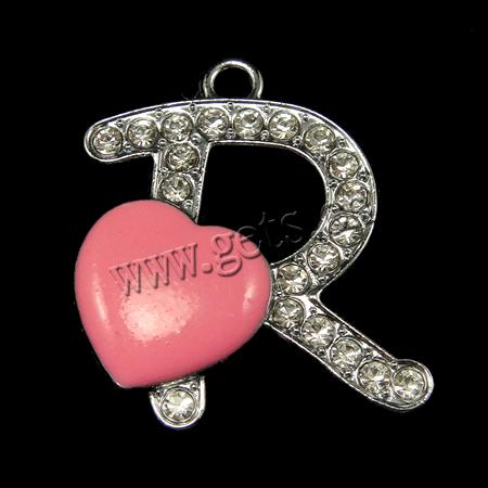 r alphabet wallpaper in heart  Zinc Alloy Alphabet Pendants, Letter