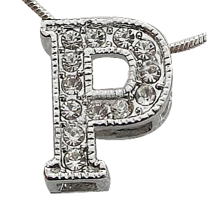 P Alphabet Design Zinc Alloy Alphabet Pendant, letter P design, with rhinestone, perfect ...