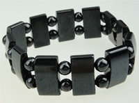Hematite Bracelet, different styles for choice, A Grade, 10x18mm, Sold Per 7.5 Inch Strand