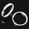 925 Sterling Silver Ring Tjetri, Petull e ëmbël në formë gjevreku, argjend praruar vërtetë, 10x10x1.40mm, 20PC/Qese,  Qese