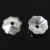 925 Sterling Silver Cap Bead, Lule, argjend praruar vërtetë, 5x5x1.50mm, : 0.8mm, 100PC/Qese,  Qese
