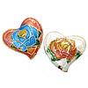Beads Smooth Cloisonne, Zemër, asnjë, 20x19x8mm, : 1mm, 20PC/Qese,  Qese