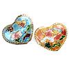 Beads Smooth Cloisonne, Zemër, asnjë, 20x16x6mm, : 1mm, 20PC/Qese,  Qese