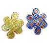 Beads Smooth Cloisonne, Knot kineze, asnjë, 20x16x6mm, : 2.5mm, 20PC/Qese,  Qese