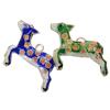 Pendants Cloisonne, Kafshë, i përzier, 27x27x5mm, : 3x2.5mm, 20PC/Qese,  Qese