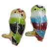 Beads Smooth Cloisonne, Kafshë, 11x18x5mm, : 1mm, 30PC/Qese,  Qese