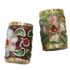 Beads filigran Cloisonne, Daulle, 9x15mm, : 1mm, 50PC/Qese,  Qese