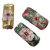 Beads filigran Cloisonne, Drejtkëndësh, 17x8x5.50mm, : 1mm, 100PC/Qese,  Qese