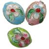 Beads filigran Cloisonne, Oval, asnjë, 14x11x7mm, : 1mm, 100PC/Qese,  Qese