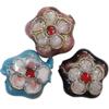 Beads filigran Cloisonne, Lule, asnjë, 12x5mm, : 1mm, 100PC/Qese,  Qese