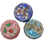 Beads filigran Cloisonne, Monedhë, asnjë, 18x6mm, : 1mm, 40PC/Qese,  Qese