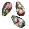 Beads filigran Cloisonne, Lot, asnjë, 8x13mm, : 1mm, 100PC/Qese,  Qese