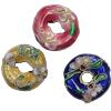 Beads filigran Cloisonne, Petull e ëmbël në formë gjevreku, asnjë, 16x5mm, : 1mm, 60PC/Qese,  Qese