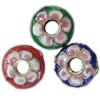 Beads filigran Cloisonne, Monedhë, asnjë, 15x5mm, : 1mm, 100PC/Qese,  Qese