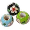 Beads filigran Cloisonne, Monedhë, asnjë, 19x16mm, : 7mm, 40PC/Qese,  Qese