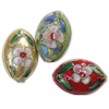 Beads filigran Cloisonne, Monedhë, asnjë, 20x14x8.50mm, : 1mm, 40PC/Qese,  Qese