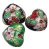 Beads filigran Cloisonne, Monedhë, asnjë, 22x20x11mm, : 2mm, 40PC/Qese,  Qese