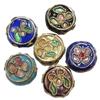Beads filigran Cloisonne, Monedhë, asnjë, 11x5mm, : 1mm, 100PC/Qese,  Qese