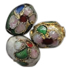 Beads filigran Cloisonne, Daulle, asnjë, 7x8mm, : 1.5mm, 100PC/Qese,  Qese