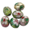 Beads filigran Cloisonne, Oval, asnjë, 9x12mm, : 1mm, 100PC/Qese,  Qese