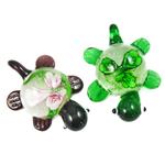 Pendants Inner Lampwork Lule, Breshkë, lule e brendshme, 31x41x17mm, : 7mm, 12PC/Kuti,  Kuti