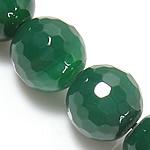 Beads Dashuri Green agat, Jeshile agat, Round, asnjë, faceted, 10mm, : 1.5-2mm, : 15Inç, 5Fillesat/Shumë,  Shumë
