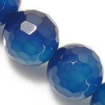 Beads Blue Natyrore agat, Blue agat, asnjë, faceted, 10mm, : 1.5-2mm, : 15Inç, 5Fillesat/Shumë,  Shumë