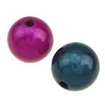 ABS-Kunststoff-Perlen, ABS Kunststoff, rund, gemischte Farben, 16mm, Bohrung:ca. 2.5mm, 100PCs/Tasche, verkauft von Tasche