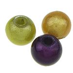 ABS-Kunststoff-Perlen, ABS Kunststoff, rund, gemischte Farben, 6mm, Bohrung:ca. 1.5mm, 4500PCs/Tasche, verkauft von Tasche