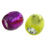 Beads ABS plastike, Daulle, ngjyra të përziera, 12x13mm, : 7mm, 600PC/Qese,  Qese