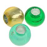 Beads ABS plastike, Daulle, ngjyra të përziera, 8x7mm, : 3.5mm, 2400PC/Qese,  Qese