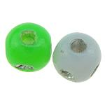 Beads ABS plastike, Round, ngjyra të përziera, 5x5mm, : 1mm, 9800PC/Qese,  Qese