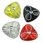 Beads ABS plastike, Trekëndësh, ngjyra të përziera, 9x5mm, : 1mm, 3300PC/Qese,  Qese