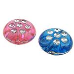 Beads ABS plastike, Round Flat, ngjyra të përziera, 10x5mm, : 1mm, 2000PC/Qese,  Qese