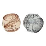 Beads transparente akrilik, Daulle, i tejdukshëm, ngjyra të përziera, 12x11mm, : 1.5mm, 538PC/Qese,  Qese