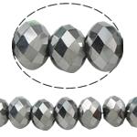 Rondell Kristallperlen, Kristall, AA grade crystal, metallische Farbe plattiert, 3x4mm, Bohrung:ca. 1mm, Länge:ca. 19 ZollInch, 10SträngeStrang/Tasche, verkauft von Tasche
