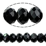 Rondelle Beads Crystal, Kristal, imitim kristal Swarovski, Reaktiv, 8x10mm, : 1.5mm, :22Inç, 10Fillesat/Qese,  Qese