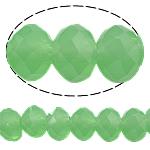 Rondell Kristallperlen, Kristall, AA grade crystal, Peridot, 6x8mm, Bohrung:ca. 1.5mm, Länge:ca. 17.5 ZollInch, 10SträngeStrang/Tasche, verkauft von Tasche