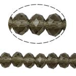 Rondell Kristallperlen, Kristall, AA grade crystal, hellgrau, 6x8mm, Bohrung:ca. 1.5mm, Länge:ca. 16 ZollInch, 10SträngeStrang/Tasche, verkauft von Tasche