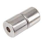 Kapje magnetike kuqe e mbylltë, Magnetik kuqe e mbylltë, Daulle, ngjyrë platin praruar, asnjë, asnjë, 4.50x4.50mm, : 1-1.5mm, 50PC/Qese,  Qese