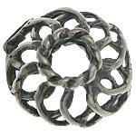 Bali Sterling Silver Bead Caps, Tajlandë, Lule, asnjë, i uritur, asnjë, 7x7x2.80mm, : 2mm, 30PC/Qese,  Qese