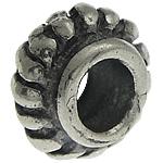 925 Sterling Silver Beads, Tajlandë, Rondelle, corrugated, 5.20x3.10mm, : 2.5mm, 20PC/Qese,  Qese