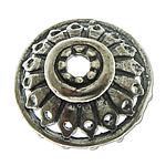 Bali Sterling Silver Bead Caps, Tajlandë, Lule, asnjë, asnjë, asnjë, 13.40x5.20mm, : 1.9mm, 4PC/Qese,  Qese