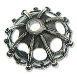 Bali Sterling Silver Bead Caps, Tajlandë, Lule, asnjë, asnjë, asnjë, 12.70x4.80mm, : 1.8mm, 9PC/Qese,  Qese